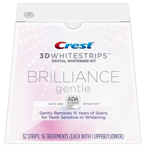 benzi-albirea-dintilor-crest-whitestrips-brilliance-gentle-new-tratament-16-zile